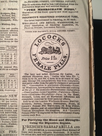 Locock's Female Pills advertised in David Copperfield